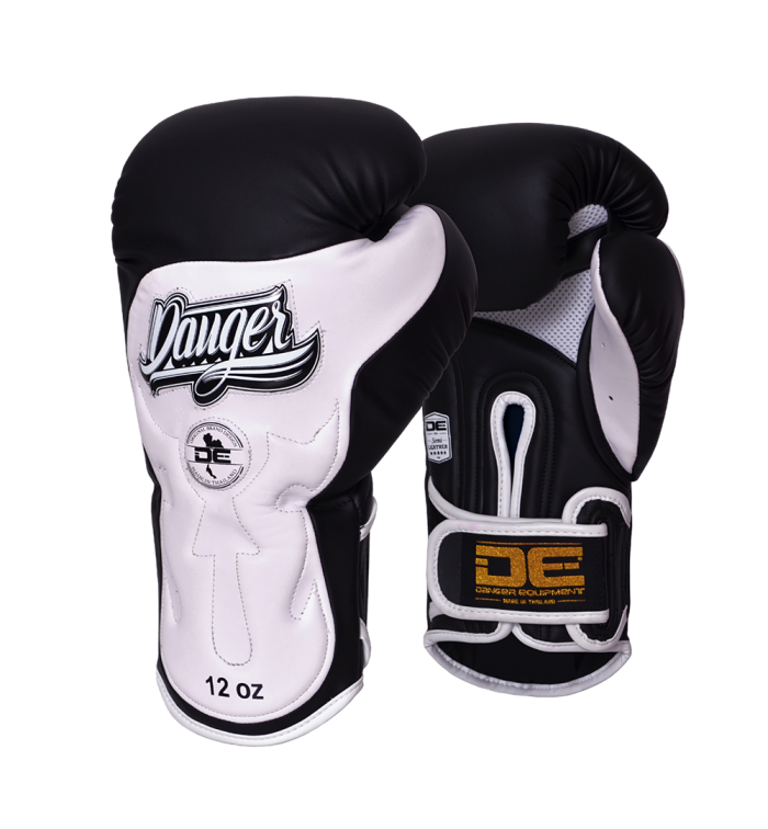 Boxing Gloves Ultimate Fighter for maximum safety DEBGUF-010-SL-10-BK/WH