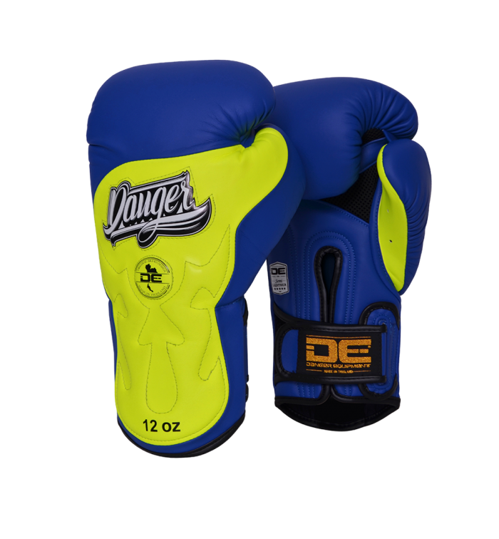 Boxing Gloves Ultimate Fighter for maximum safety DEBGUF-010-SL-10-BU/YW