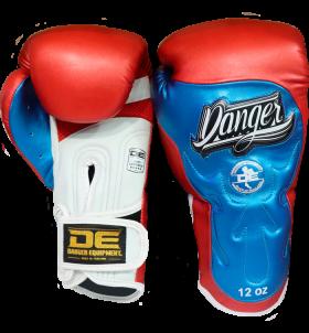 Signature Gloves UF Premium from danger boxing DEBG-010UFP-WH/RD/BU-SL-10
