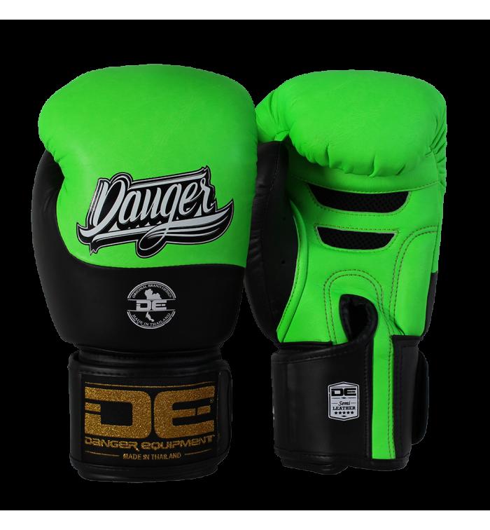 Boxing Gloves Evolution Black Wrist from danger DEBGEV-008-SL-8-GRN/BK