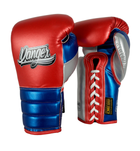 Boxing Gloves Mexican Pride Laces in leather o semileather DEBGMX-002-2.0-LC-SL-10-MT.RD/MT.BU/MT.SV